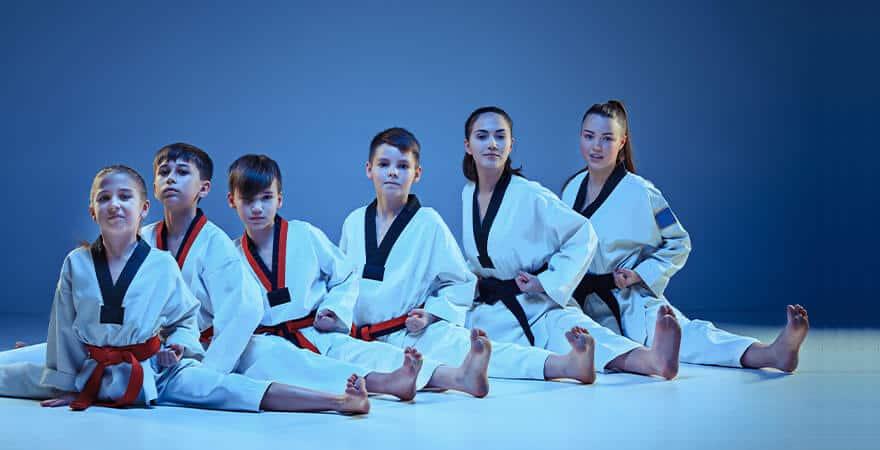 Martial Arts Lessons for Kids in Zephyrhills FL - Kids Group Splits