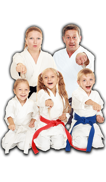 Martial Arts Lessons for Families in Zephyrhills FL - Sitting Group Family Banner