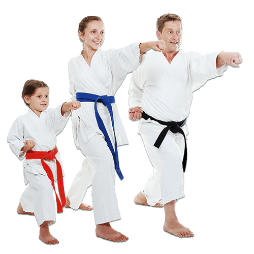 Martial Arts Lessons for Families in Zephyrhills FL - Man and Daughters Family Punching Together