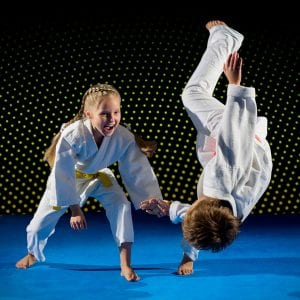 Martial Arts Lessons for Kids in Zephyrhills FL - Judo Toss Kids Girl