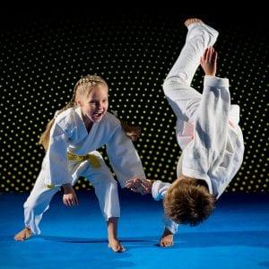 Martial Arts Lessons for Kids in Zephyrhills FL - Judo Toss Kids Girl