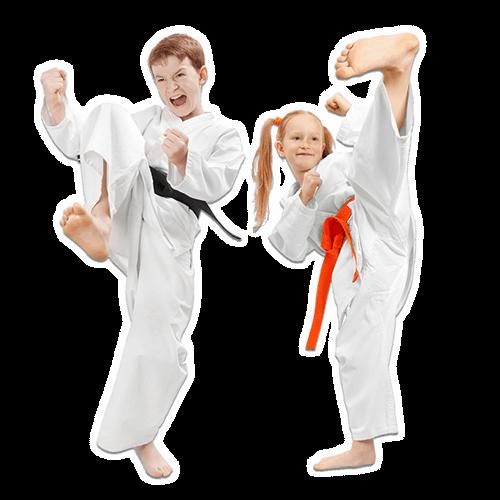 Martial Arts Lessons for Kids in Zephyrhills FL - Kicks High Kicking Together