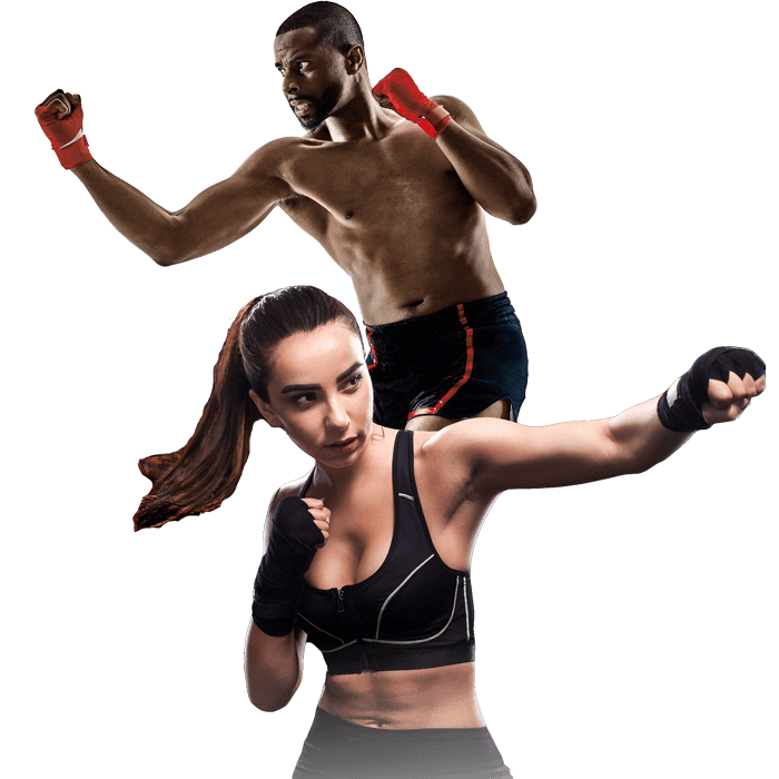 Mixed Martial Arts Lessons for Adults in Zephyrhills FL - Man and Woman Punching Hooks
